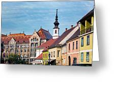 Old Town Buildings In Budapest Greeting Card