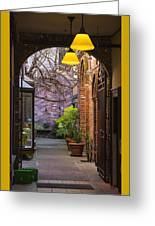 Old Town Courtyard In Victoria British Columbia Greeting Card