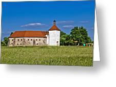 Old Town Fortress In Durdevac Croatia Greeting Card