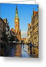 Old Town  Gdansk  Poland Greeting Card