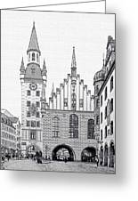 Old Town Hall - Munich - Germany Greeting Card by Christine Till