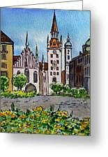 Old Town Hall Munich Germany Greeting Card