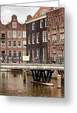 Old Town In Amsterdam Greeting Card