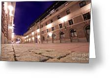 Old Town In Stockholm At Night Greeting Card