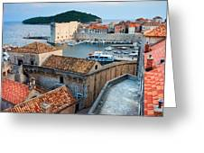Old Town Of Dubrovnik Greeting Card