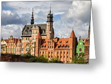 Old Town Of Gdansk In Poland Greeting Card