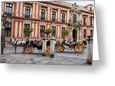 Old Town Of Seville In Spain Greeting Card