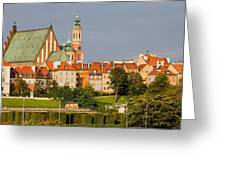Old Town Of Warsaw Skyline Greeting Card