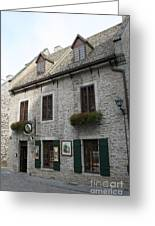 Old Town Quebec Canada Greeting Card