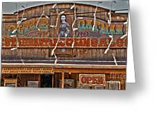 Old Town Saloon Greeting Card