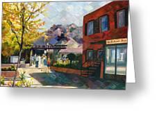 Old Town Sedona Greeting Card