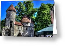 Old Town - Tallin Estonia Greeting Card