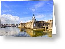 Old Town Walls Concarneau Brittany Greeting Card