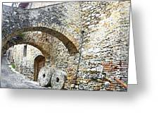 Old Towns Of Tuscany San Gimignano Italy Greeting Card