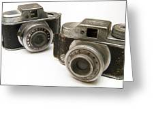 Old Toy Cameras Greeting Card