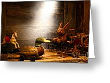 Old Toys In The Attic Greeting Card by Olivier Le Queinec