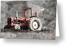 Old Tractor Greeting Card