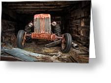 Old Tractor Face Greeting Card by Gary Heller