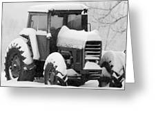 Old Tractor In The Snow Greeting Card