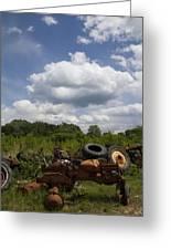 Old Tractor Junkyard Greeting Card
