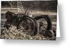 Old Tractor Greeting Card by Lynn Geoffroy