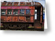Old Train Car Greeting Card