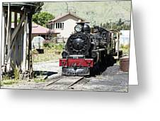 Old Train Engine Greeting Card
