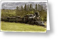 Old Train Steam Engine At The Fort Edmonton Park Greeting Card