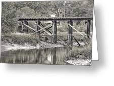Old Train Trestle Greeting Card