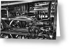 Old Train Wheel Greeting Card
