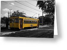 Old Trolley Greeting Card