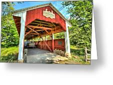 Old Trostle Town Bridge Greeting Card