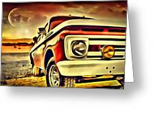 Old Truck Art Greeting Card