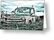 Old Truck - Cool Glaze Greeting Card