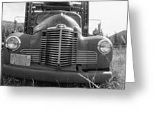 Old Truck Grill Greeting Card