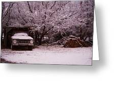 Old Truck In The Snow Greeting Card