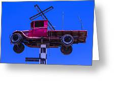 Old Truck With Cross Greeting Card