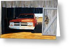 Old Trucks And Decoys Greeting Card