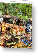 Old Trucks And Old Bicycles Greeting Card