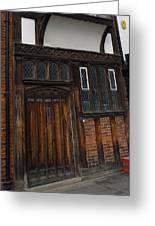 Old Tudor Doorway Greeting Card