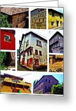 Old Turkish Houses Greeting Card