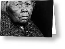 Old Twana Woman Circa 1913 Greeting Card by Aged Pixel