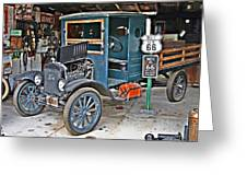 Old Tyme Auto Shop Greeting Card