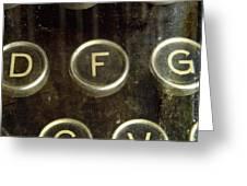 Old Typewrater Greeting Card