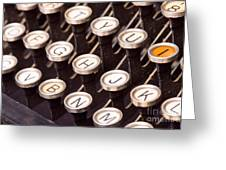 Old Typewriter Keys Greeting Card