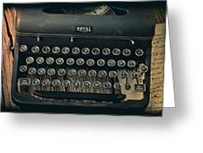 Old Typewriter With Letter Greeting Card