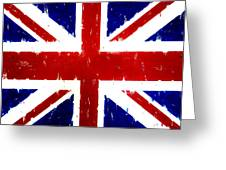 Old United Kingdom Flag Original Acrylic Palette Knife Painting Greeting Card