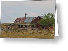 Old Vacant Country Property Greeting Card
