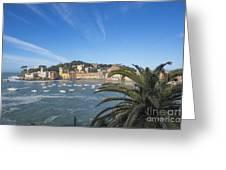 Old Village Sestri Levante Greeting Card