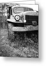 Old Vintage Dodge Work Truck Greeting Card